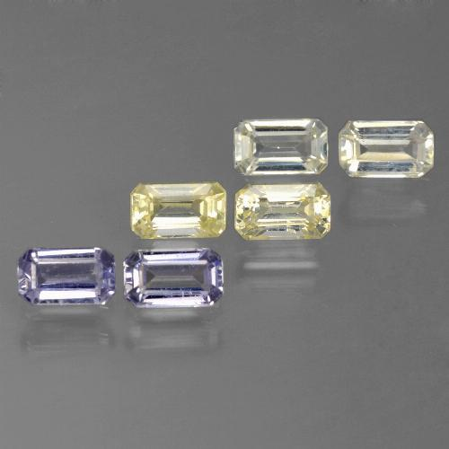 Multicolor Sapphire Gem - 0.4ct Octagon Step Cut (ID: 450519)