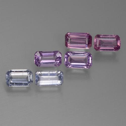Multicolor Sapphire Gem - 0.4ct Octagon Step Cut (ID: 450520)