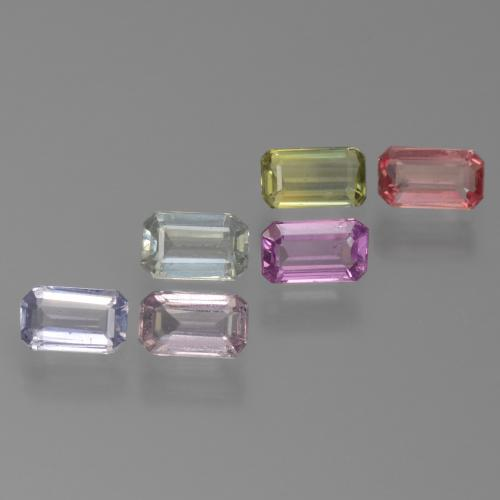 Multicolor Sapphire Gem - 0.4ct Octagon Step Cut (ID: 450580)