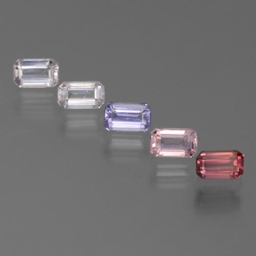 Multicolor Sapphire Gem - 0.5ct Octagon Step Cut (ID: 450646)