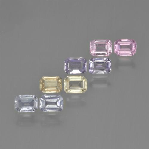 Multicolor Sapphire Gem - 0.3ct Octagon Step Cut (ID: 450717)