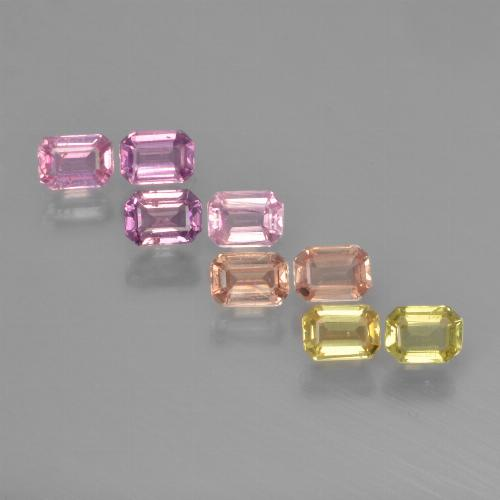 Multicolor Sapphire Gem - 0.2ct Octagon Step Cut (ID: 450726)