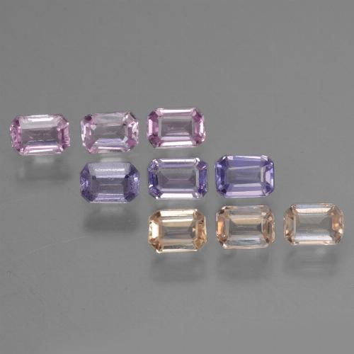 Multicolor Sapphire Gem - 0.2ct Octagon Step Cut (ID: 451327)