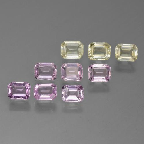 Multicolor Sapphire Gem - 0.2ct Octagon Step Cut (ID: 451330)