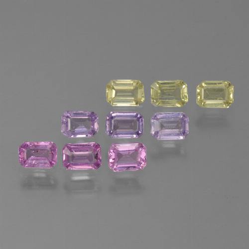 Multicolor Sapphire Gem - 0.2ct Octagon Step Cut (ID: 451332)