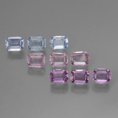 Multicolor Sapphire Gem - 0.2ct Octagon Step Cut (ID: 451333)