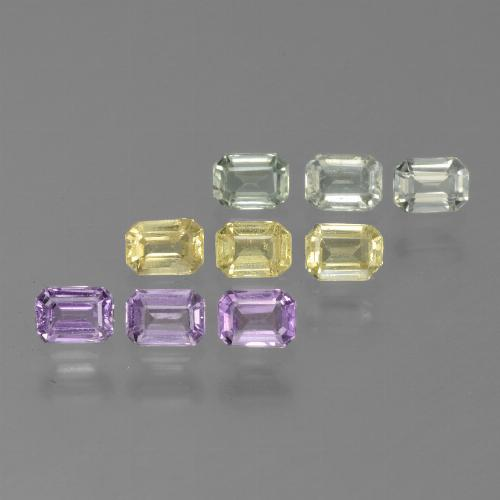 Multicolor Sapphire Gem - 0.3ct Octagon Step Cut (ID: 451334)