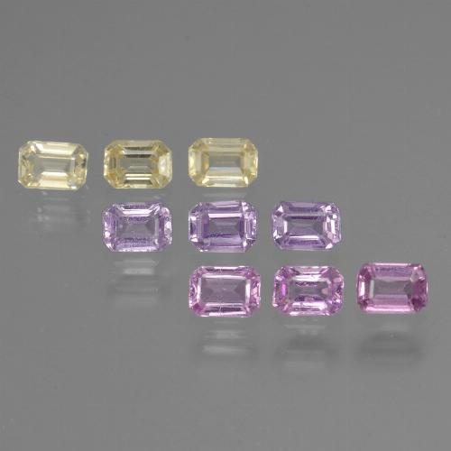 Multicolor Sapphire Gem - 0.2ct Octagon Step Cut (ID: 451337)