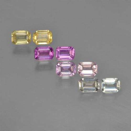 Multicolor Sapphire Gem - 0.2ct Octagon Step Cut (ID: 451341)