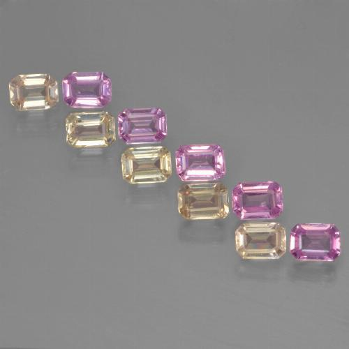 Multicolor Sapphire Gem - 0.2ct Octagon Step Cut (ID: 451345)