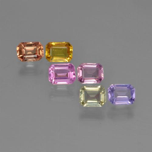 Multicolor Sapphire Gem - 0.2ct Octagon Step Cut (ID: 451367)