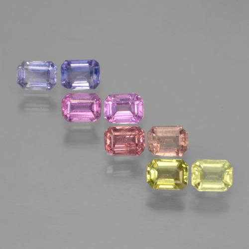 Multicolor Sapphire Gem - 0.2ct Octagon Step Cut (ID: 451372)
