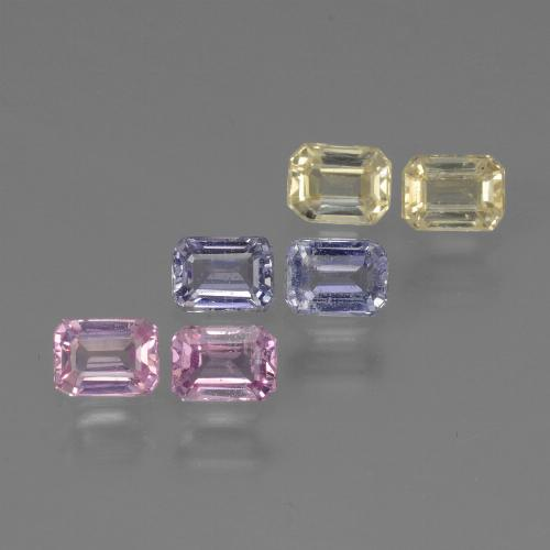 Multicolor Sapphire Gem - 0.3ct Octagon Step Cut (ID: 451410)