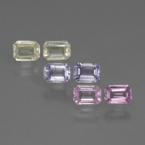 Multicolor Sapphire Gem - 0.2ct Octagon Step Cut (ID: 451411)