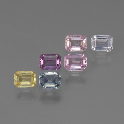 Multicolor Sapphire Gem - 0.2ct Octagon Step Cut (ID: 451412)