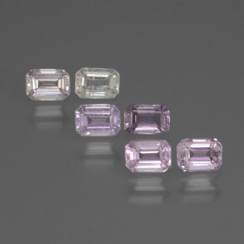 Multicolor Sapphire Gem - 0.2ct Octagon Step Cut (ID: 451419)