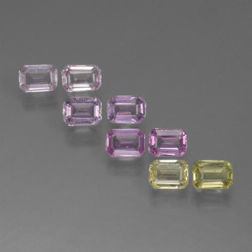 Multicolor Sapphire Gem - 0.2ct Octagon Step Cut (ID: 451421)