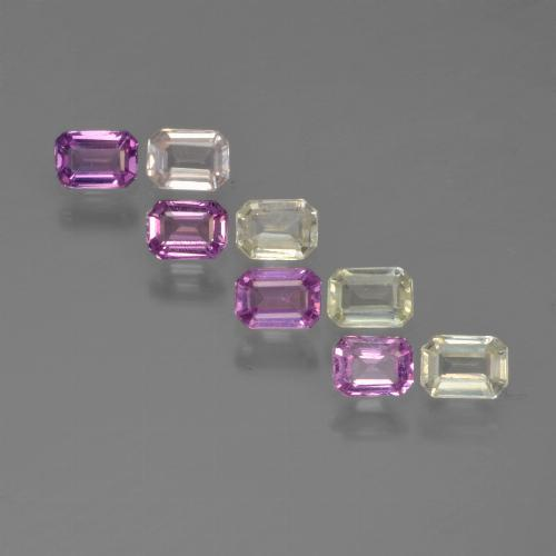 Multicolor Sapphire Gem - 0.2ct Octagon Step Cut (ID: 451422)