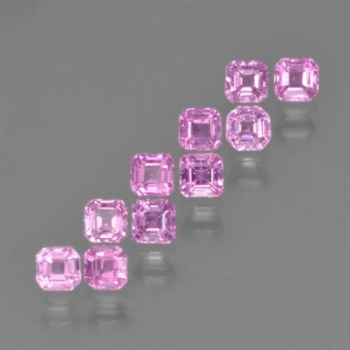 Light Pink Sapphire Gem - 0.2ct Octagon Step Cut (ID: 452201)