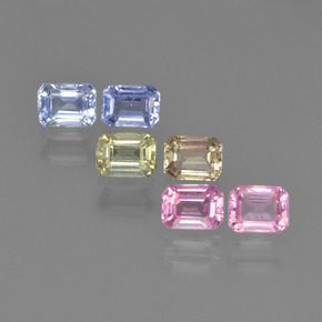 Multicolor Sapphire Gem - 0.3ct Octagon Step Cut (ID: 452272)