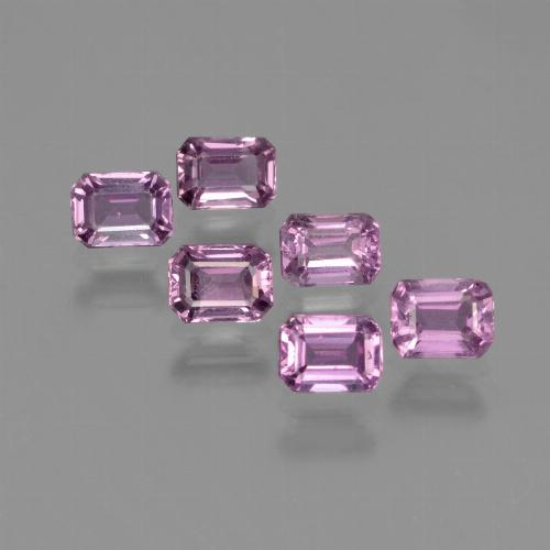 Purple Pink Sapphire Gem - 0.3ct Octagon Step Cut (ID: 452275)