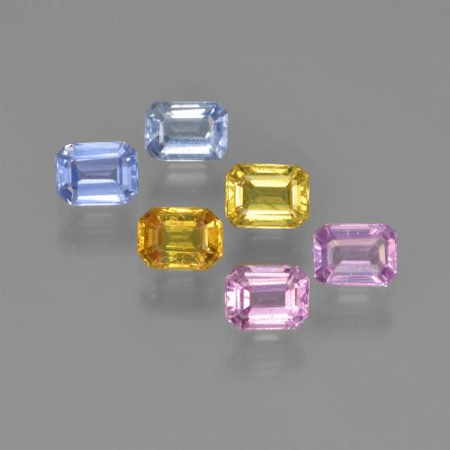 Multicolor Sapphire Gem - 0.3ct Octagon Step Cut (ID: 452283)