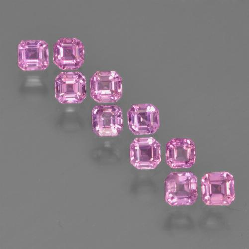 Royal Purple Pink Zaffiro Gem - 0.2ct Taglio ottagonale (ID: 452313)