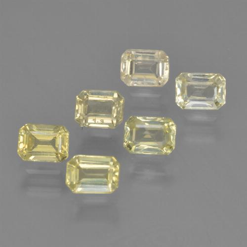 Yellow Sapphire Gem - 0.3ct Octagon Step Cut (ID: 452405)