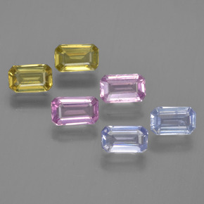 Multicolor Sapphire Gem - 0.3ct Octagon Step Cut (ID: 452412)