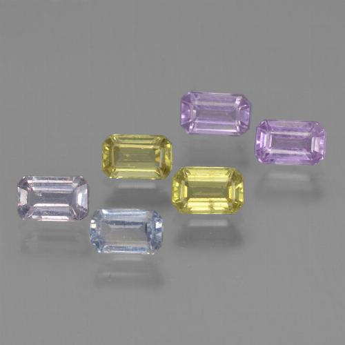 Multicolor Sapphire Gem - 0.4ct Octagon Step Cut (ID: 452413)