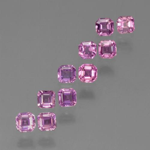 Intense Pinkish Purple Zafiro Gema - 0.2ct Corte octagonal (ID: 452430)