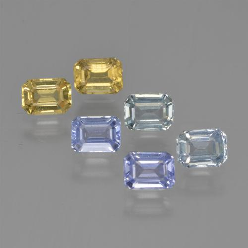 Multicolor Sapphire Gem - 0.3ct Octagon Step Cut (ID: 452462)