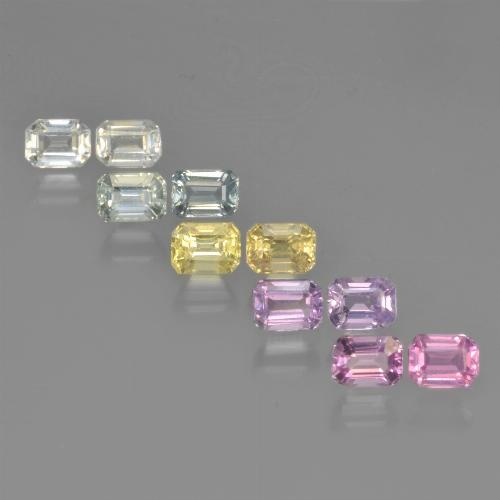Multicolor Sapphire Gem - 0.3ct Octagon Step Cut (ID: 452518)