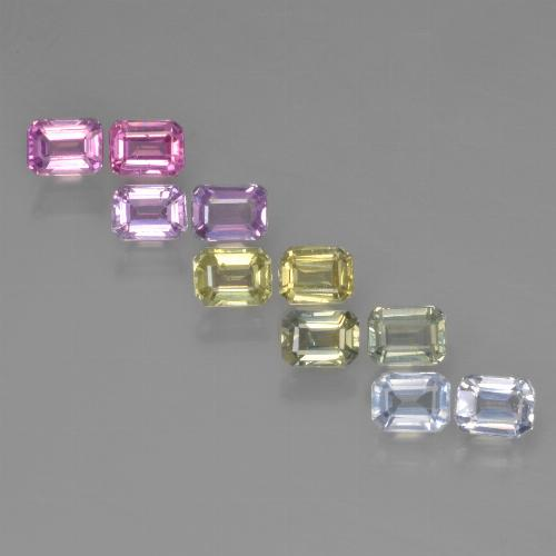 Multicolor Sapphire Gem - 0.3ct Octagon Step Cut (ID: 452519)