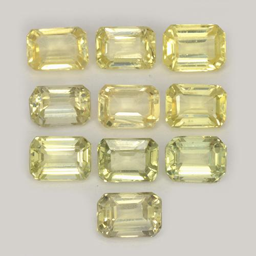 Greenish Yellow Sapphire Gem - 0.3ct Octagon Step Cut (ID: 452520)