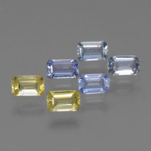 Multicolor Sapphire Gem - 0.3ct Octagon Step Cut (ID: 452528)