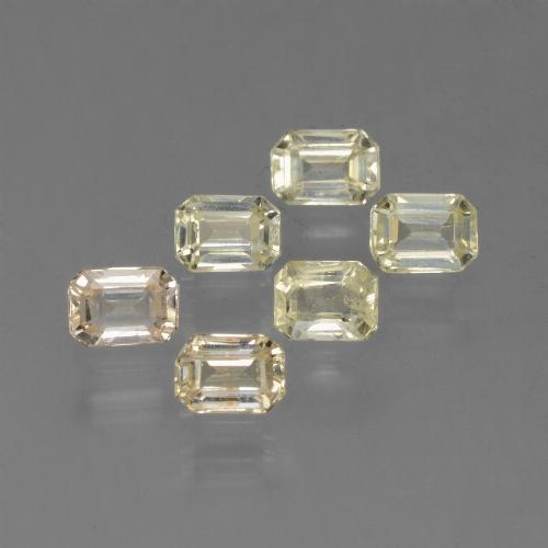 Yellow Sapphire Gem - 0.3ct Octagon Step Cut (ID: 452531)