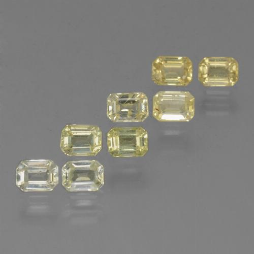 Yellow Sapphire Gem - 0.3ct Octagon Step Cut (ID: 452533)