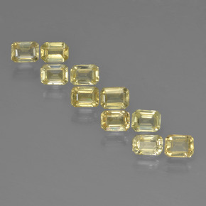 Pale Yellow Sapphire Gem - 0.3ct Octagon Step Cut (ID: 452548)