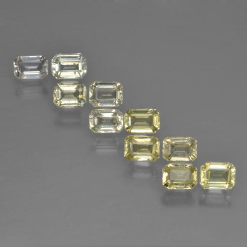 Yellow Sapphire Gem - 0.3ct Octagon Step Cut (ID: 452555)