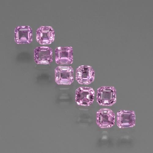 Light Royal Purple Pink Sapphire Gem - 0.2ct Octagon Step Cut (ID: 452566)