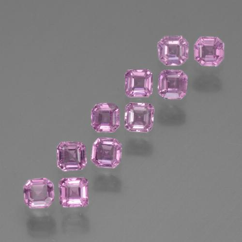 Light Royal Purple Pink Sapphire Gem - 0.1ct Octagon Step Cut (ID: 452567)