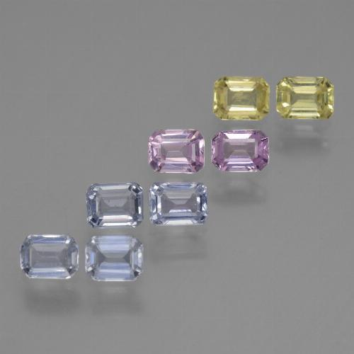 Multicolor Sapphire Gem - 0.3ct Octagon Step Cut (ID: 452572)