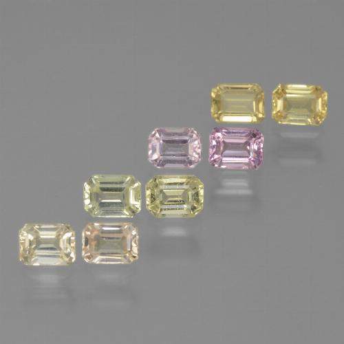 Multicolor Sapphire Gem - 0.3ct Octagon Step Cut (ID: 452576)