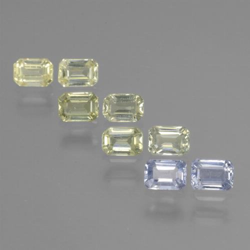 Multicolor Sapphire Gem - 0.3ct Octagon Step Cut (ID: 452579)