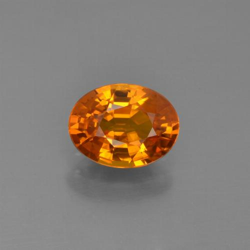 Yellow Golden Sapphire Gem - 1.6ct Oval Facet (ID: 453003)
