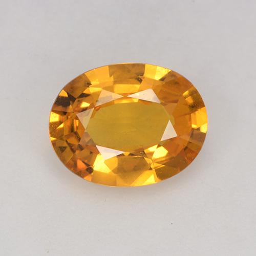 Yellow Golden Sapphire Gem - 1.3ct Oval Facet (ID: 453007)