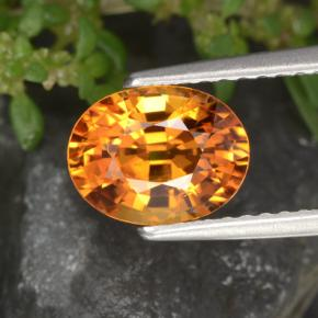 Orange Sapphire Gem - 1.9ct Oval Facet (ID: 453011)