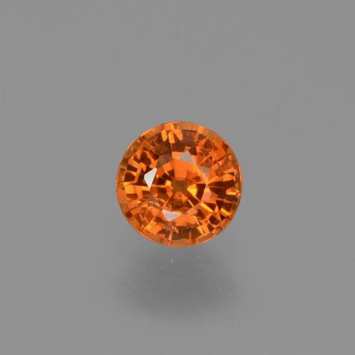 Yellow Orange Sapphire Gem - 0.7ct Round Facet (ID: 453018)