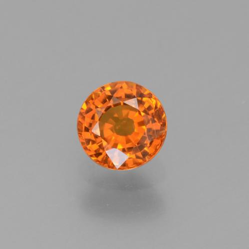 Fire Orange Zaffiro Gem - 0.7ct Sfaccettatura rotonda (ID: 453023)